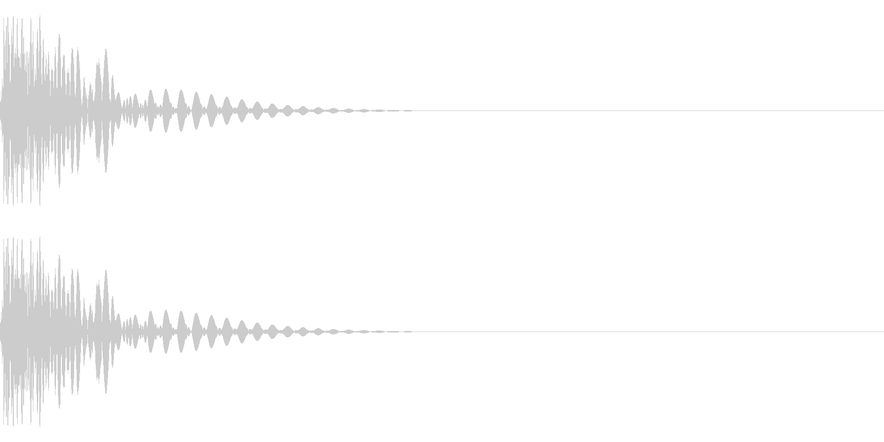8Bit系ドラム、ゲーム音源用キックの未再生の波形