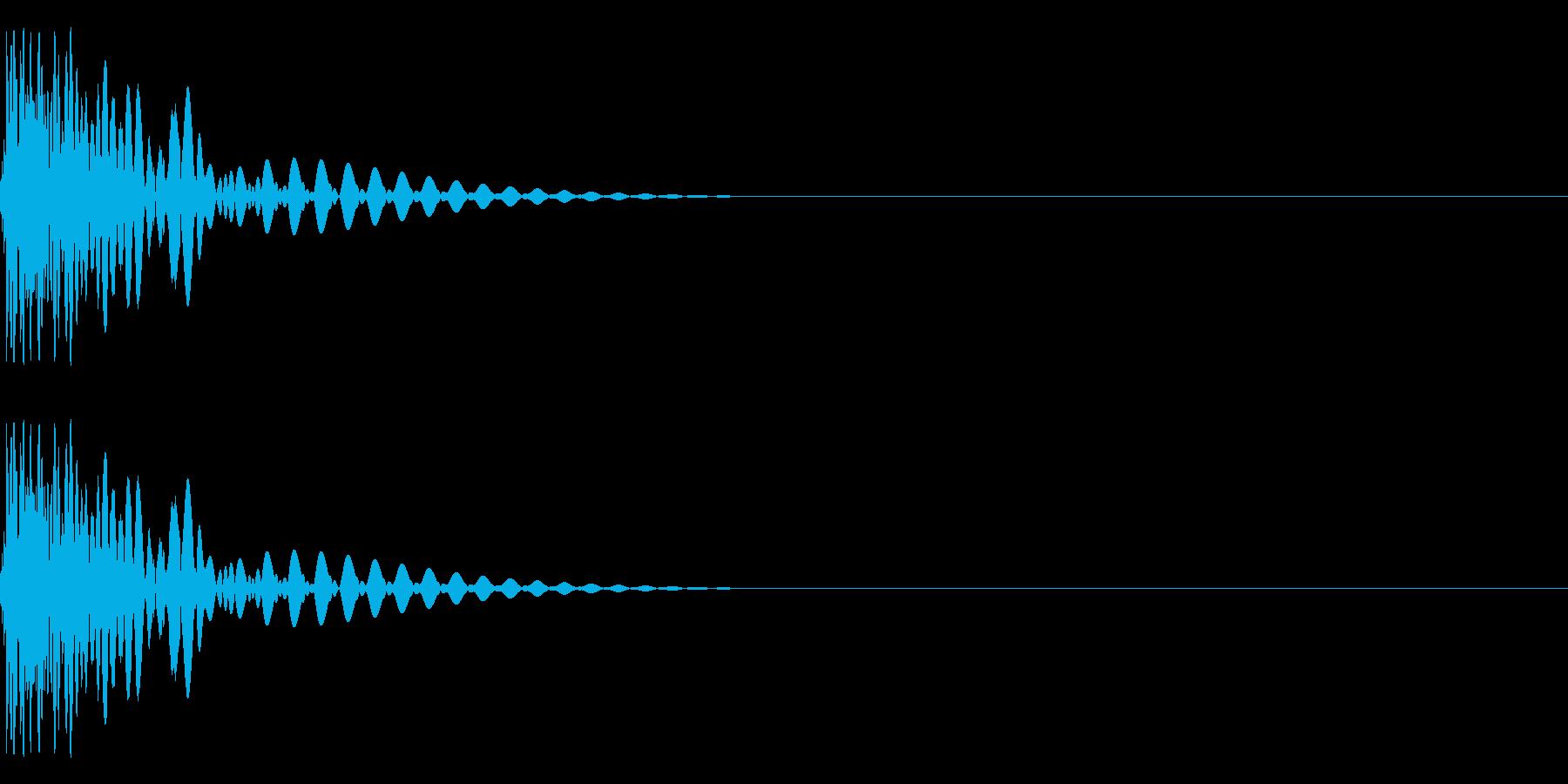 8Bit系ドラム、ゲーム音源用キックの再生済みの波形