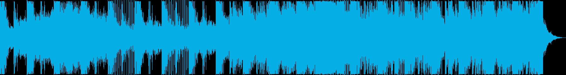 ダイナミックで盛大なメロディーの再生済みの波形