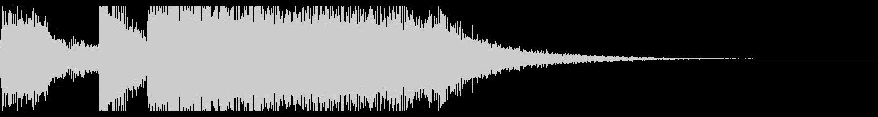 テッテレーの未再生の波形