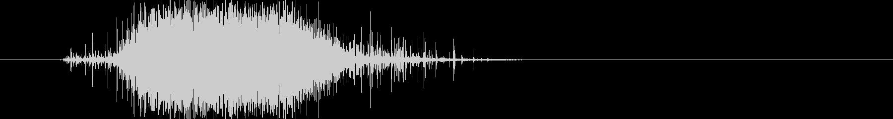 レインスティックを早く鳴らした音の未再生の波形