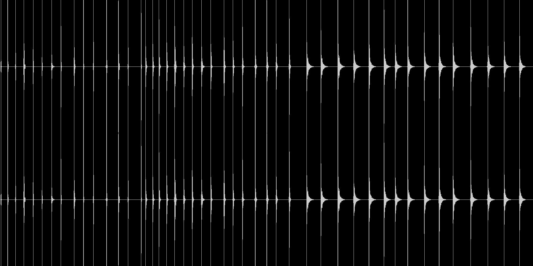 聴覚障害の未再生の波形