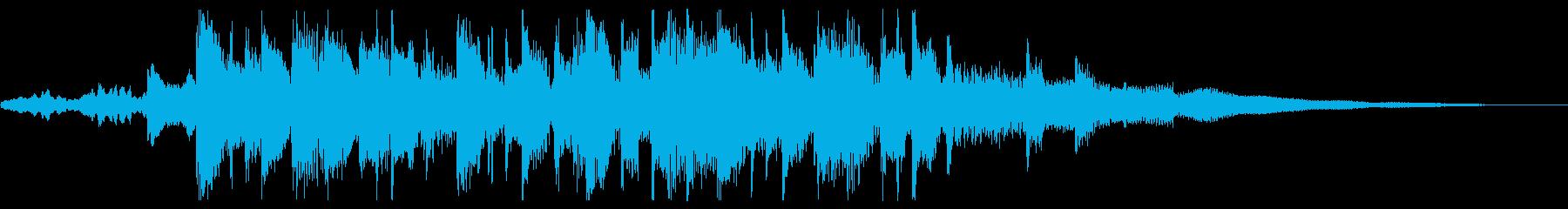 トロピカルハウスEDM♪ジングル♪夏映像の再生済みの波形