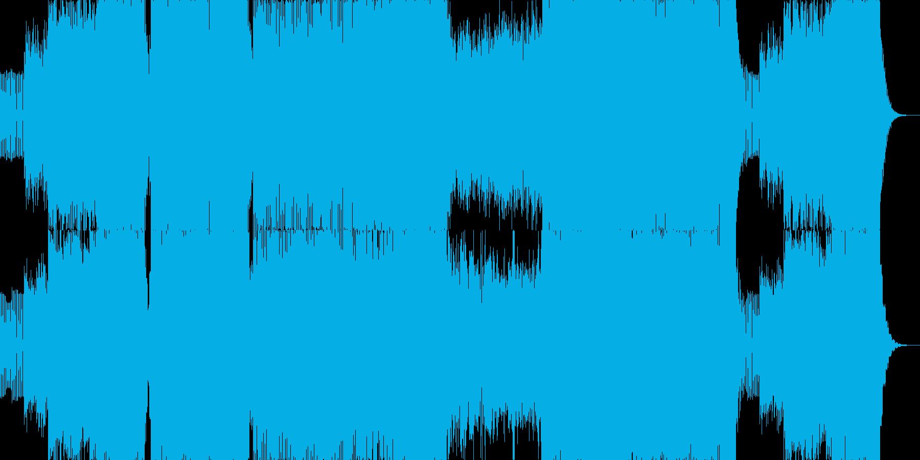 ハイテンポでノリノリなエレクトロニカの再生済みの波形