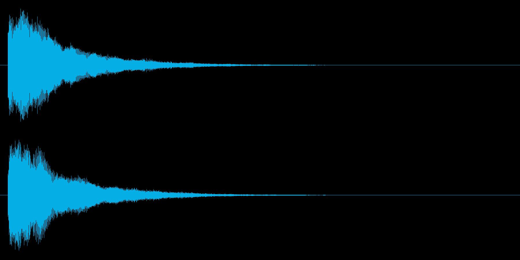 プィヨ~~ンの再生済みの波形