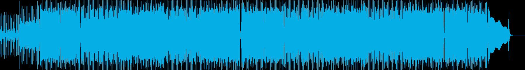 パリッとギターの軽快ロックの再生済みの波形