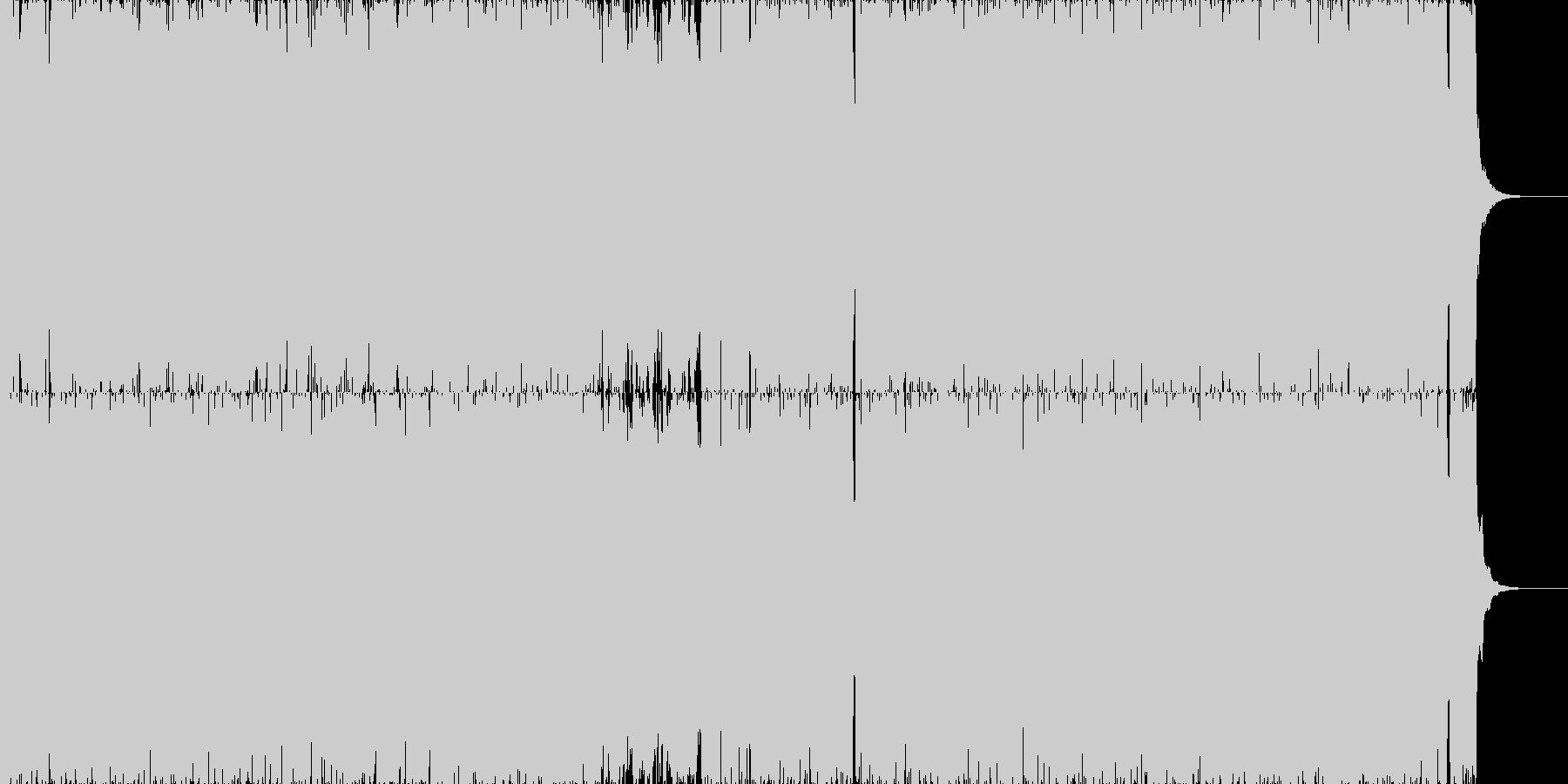 劇的でサイバーなアートコアの未再生の波形