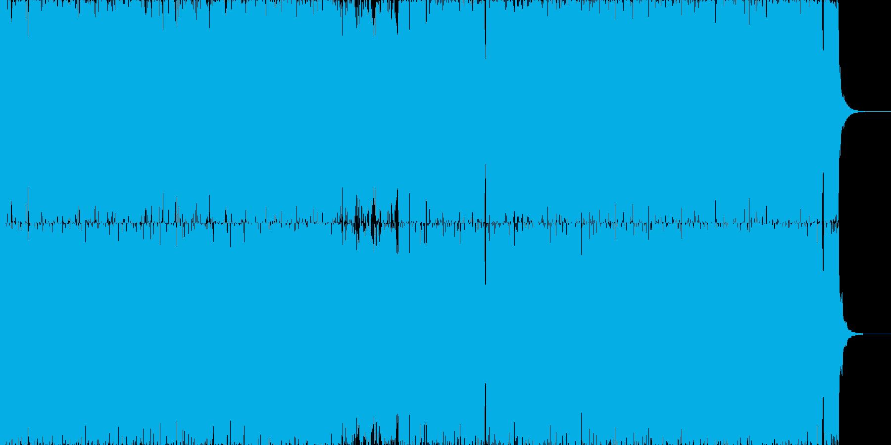劇的でサイバーなアートコアの再生済みの波形
