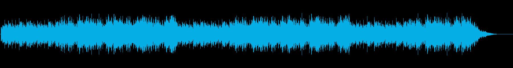 眠りを誘うアンビエントな曲の再生済みの波形