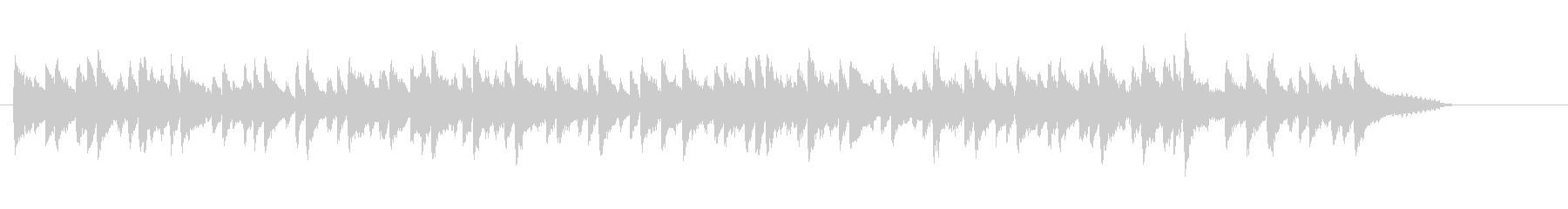 トランペットによるコンパクトなバラードの未再生の波形