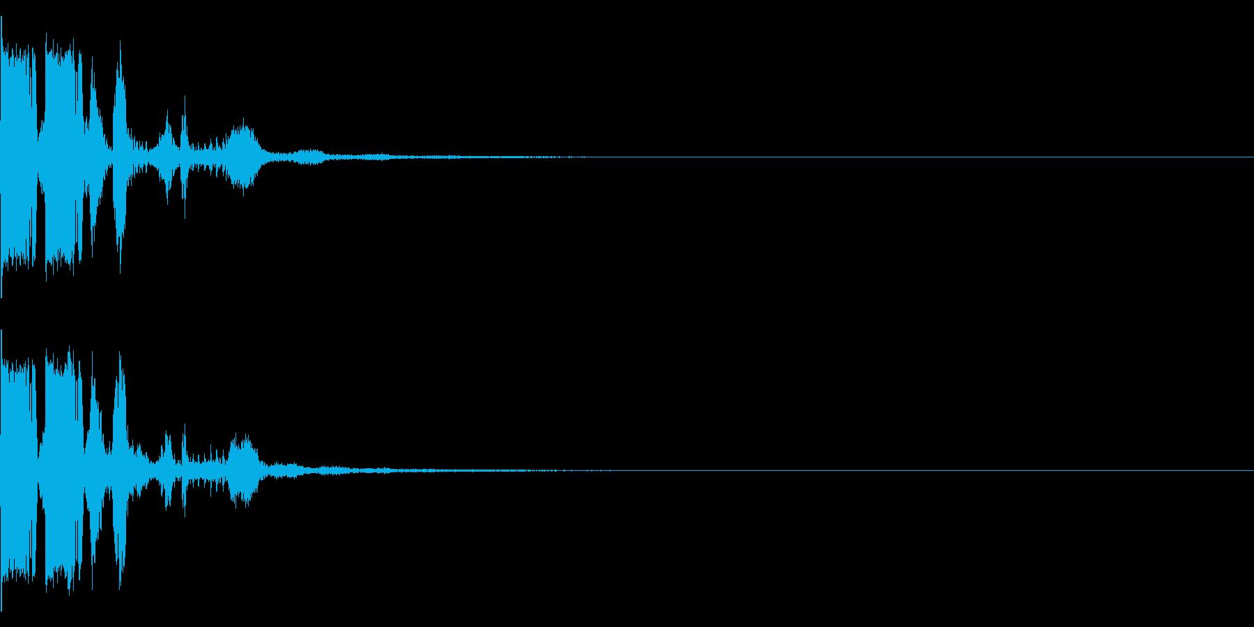ブンブン ボイス入り 動画の自己紹介にの再生済みの波形