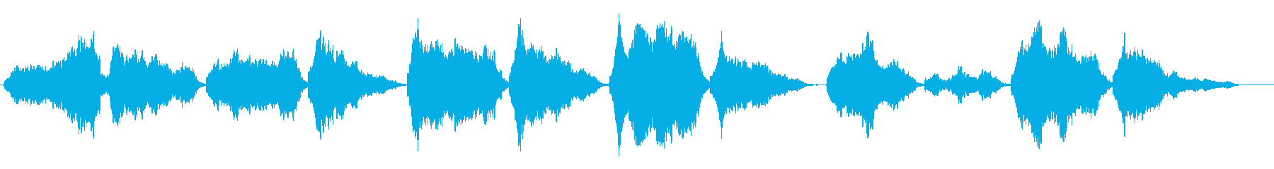 "I sang gently with ""Ah"" for BGM's reproduced waveform"