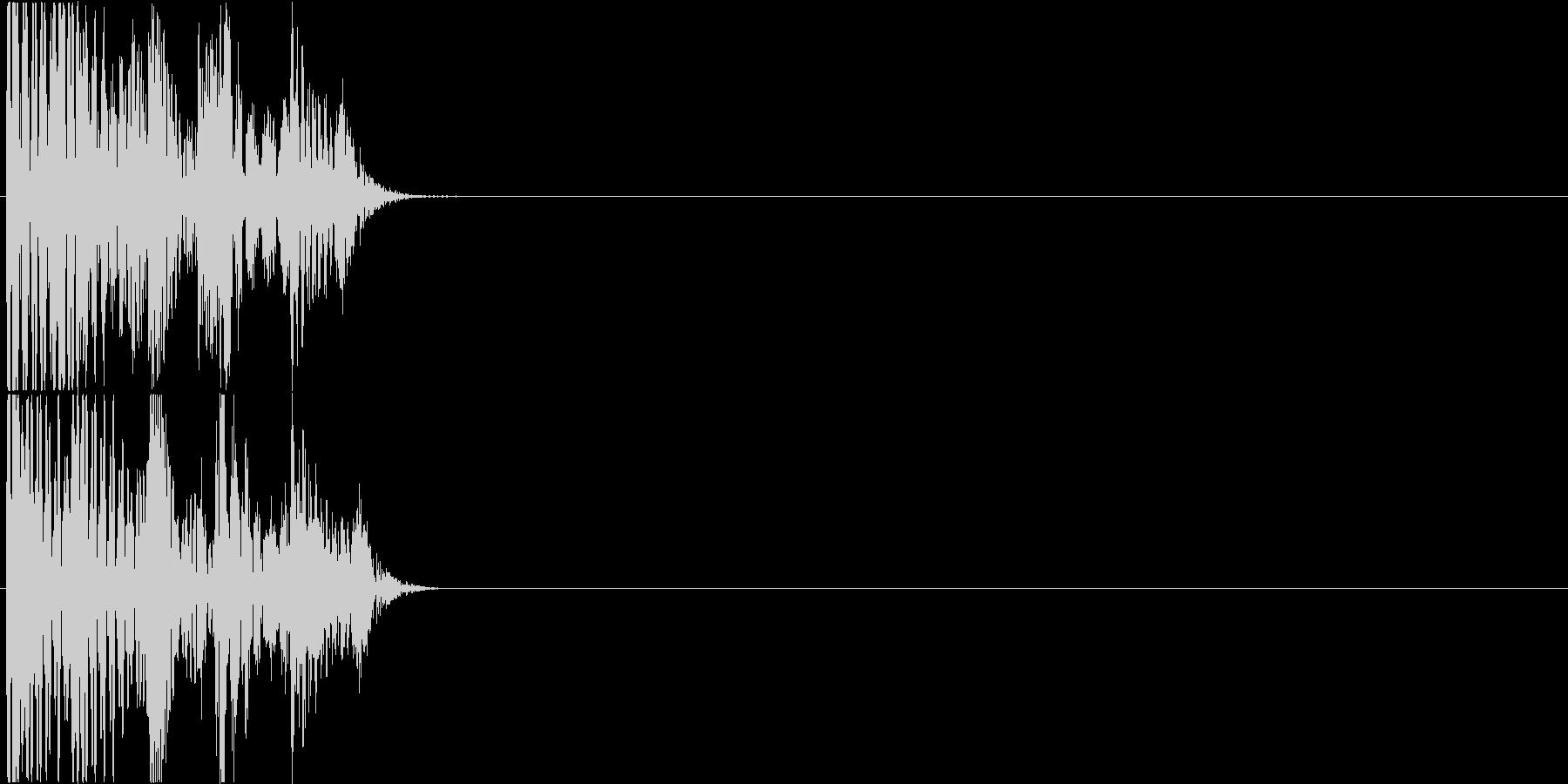 パチスロ・遊戯台のクレジット投入時の音の未再生の波形