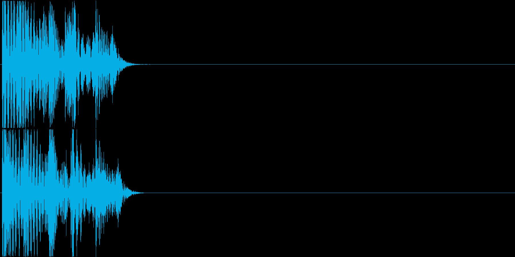 パチスロ・遊戯台のクレジット投入時の音の再生済みの波形