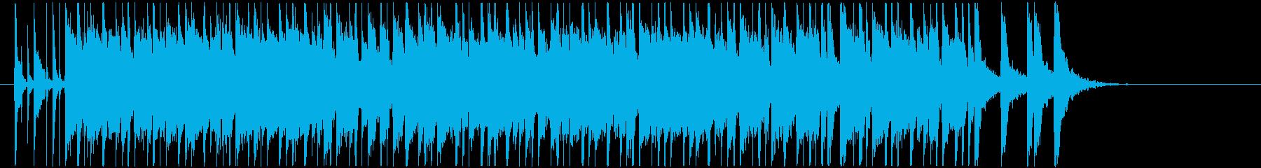 とにかく陽気さを前面に出した曲の再生済みの波形