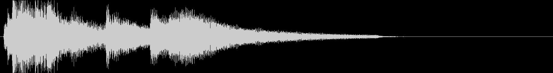 アコギとピアノがメインの温かなジングルの未再生の波形