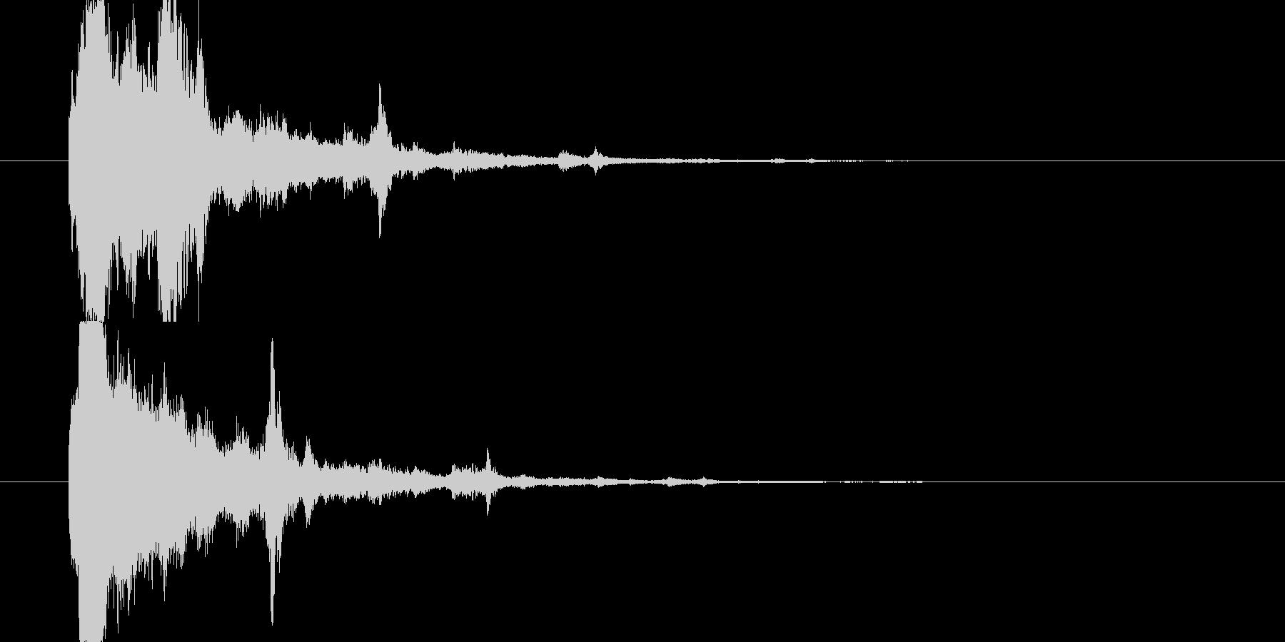 キラキラ(かわいい、星、ボタン、起動音)の未再生の波形