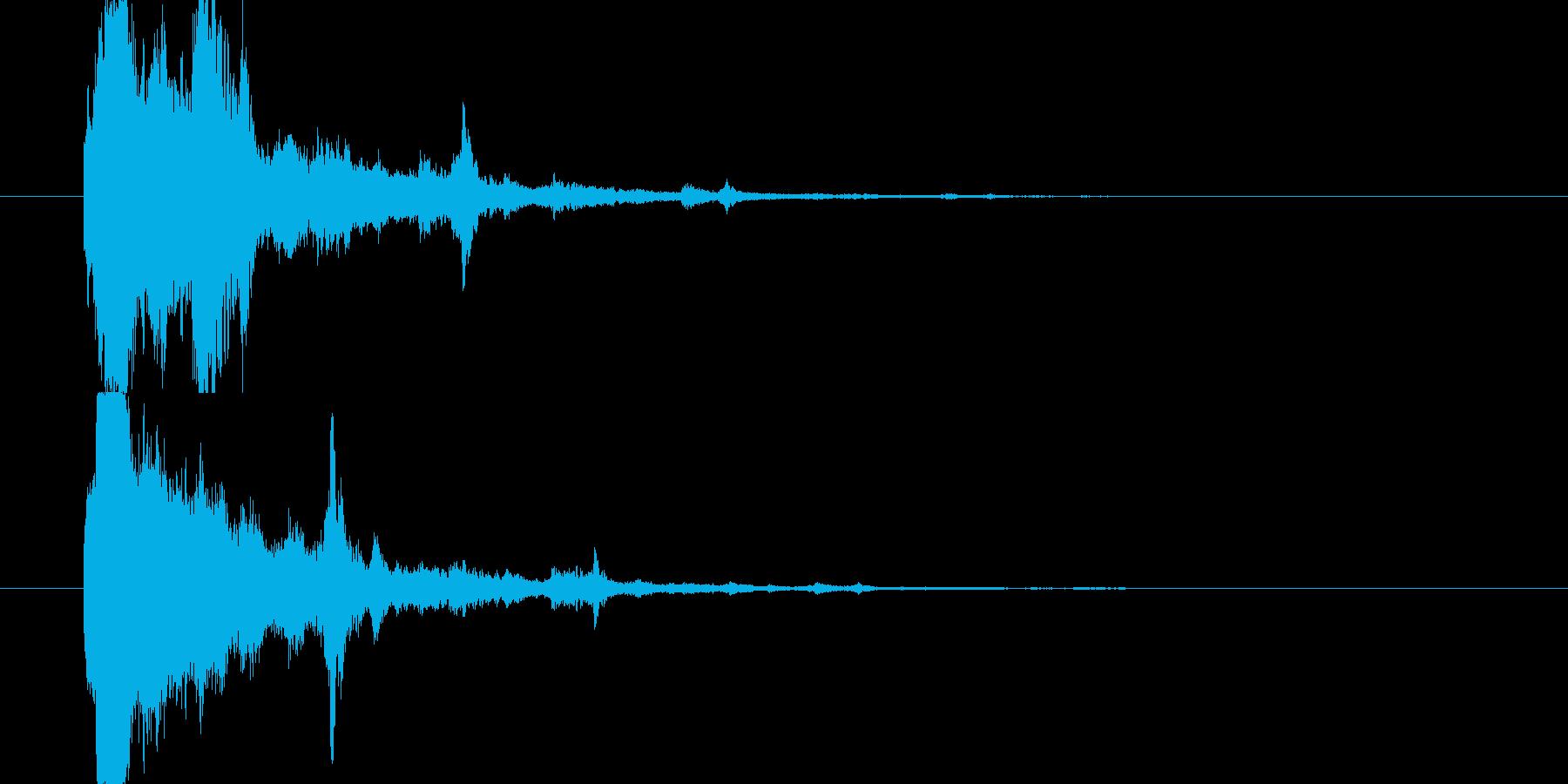 キラキラ(かわいい、星、ボタン、起動音)の再生済みの波形