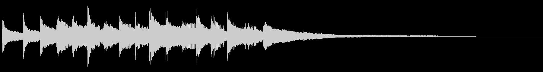 続きが気になるようなピアノのサウンドロゴの未再生の波形