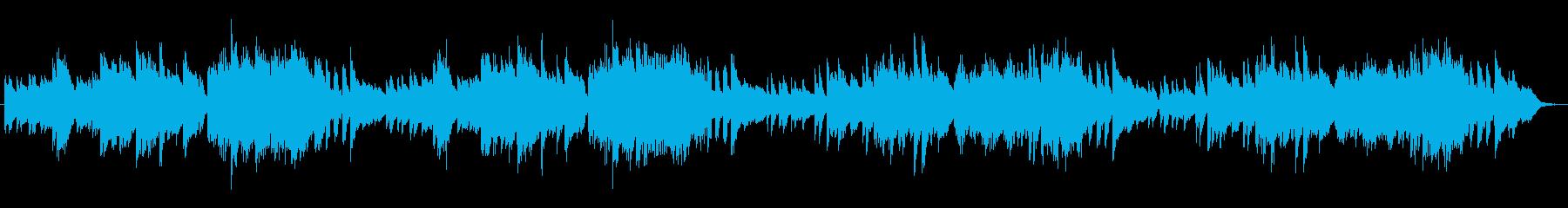 解説場面で使えそうな軽やかなピアノ曲の再生済みの波形