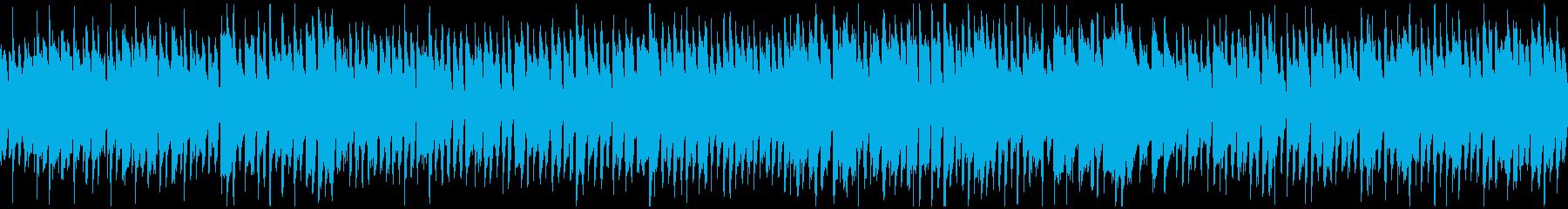 晴れた日、ポップなリコーダー曲※ループ版の再生済みの波形