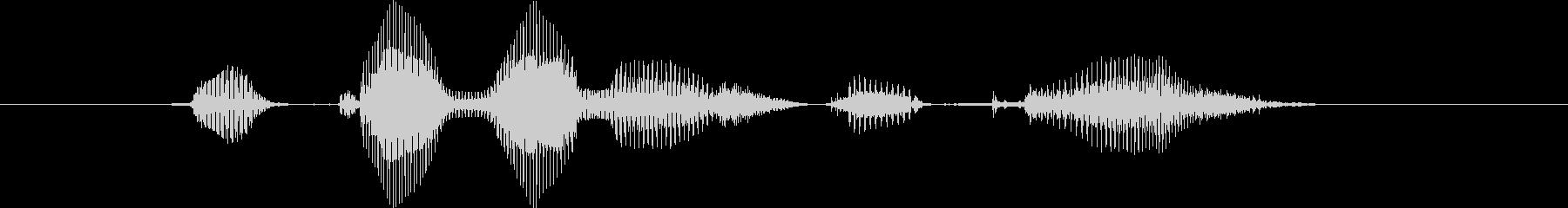 【確認】いかがでしたか?(中音)の未再生の波形