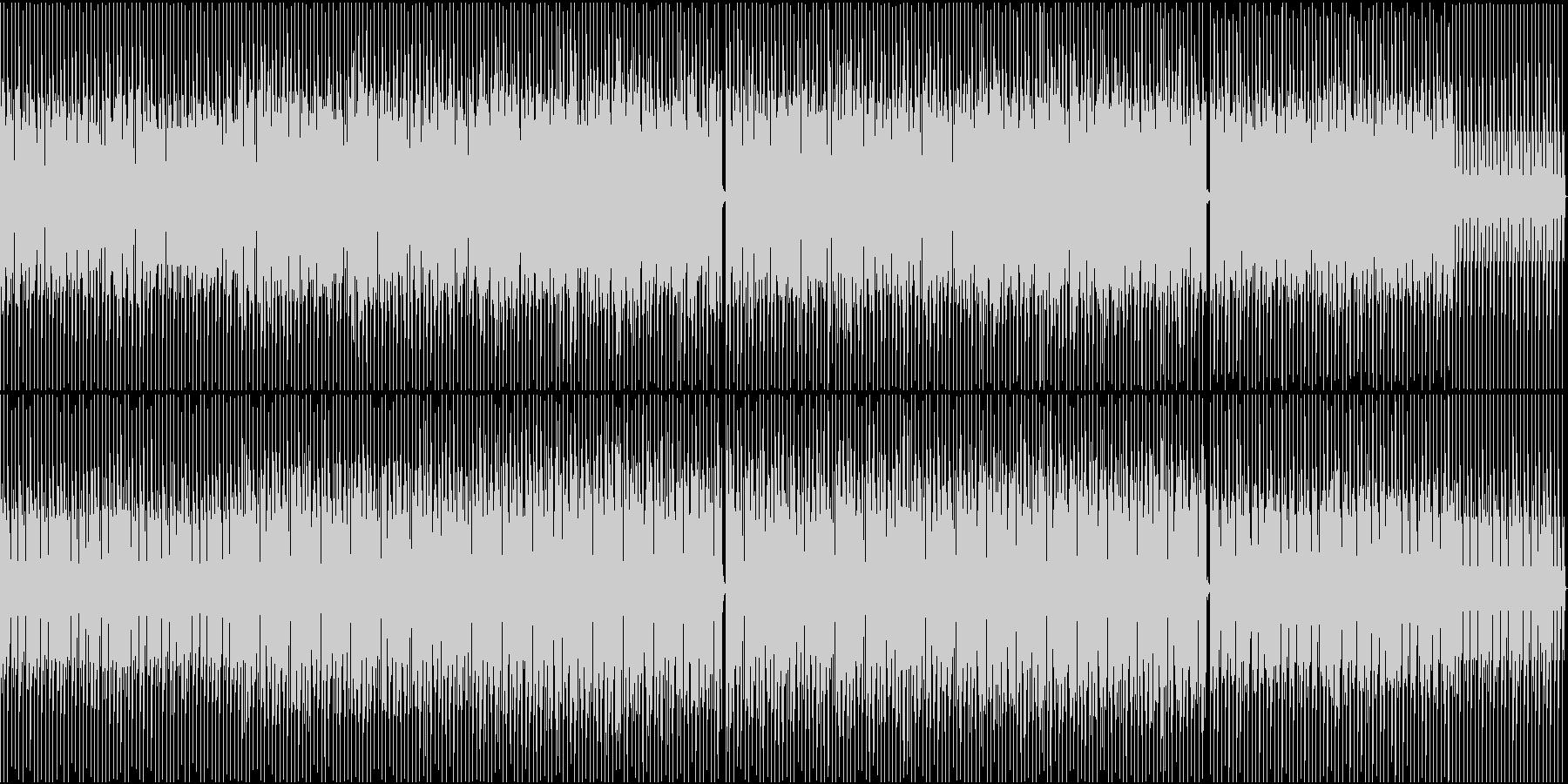 シャープな印象のBGMの未再生の波形