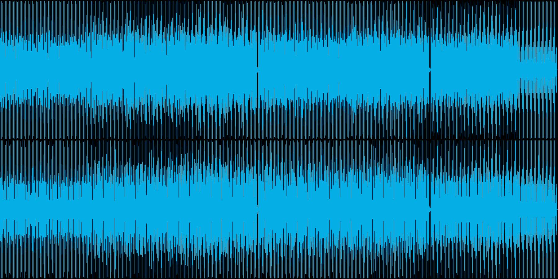 シャープな印象のBGMの再生済みの波形