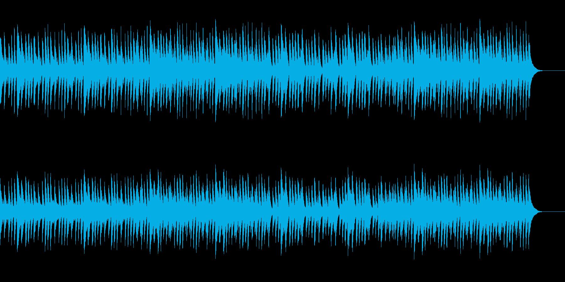 無邪気で優しい日常的なマリンバ曲の再生済みの波形