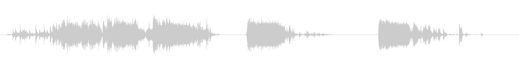 衝撃、落下するクローゼットのスクラップの未再生の波形