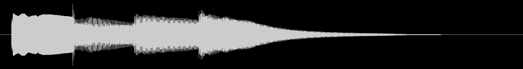チャイム アナウンス07-3の未再生の波形