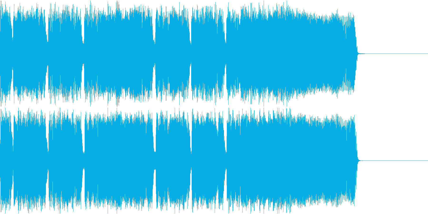 メタル ジングル ザクザク2の再生済みの波形