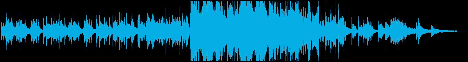 ピアノオンリーで徐々に壮大になる曲の再生済みの波形