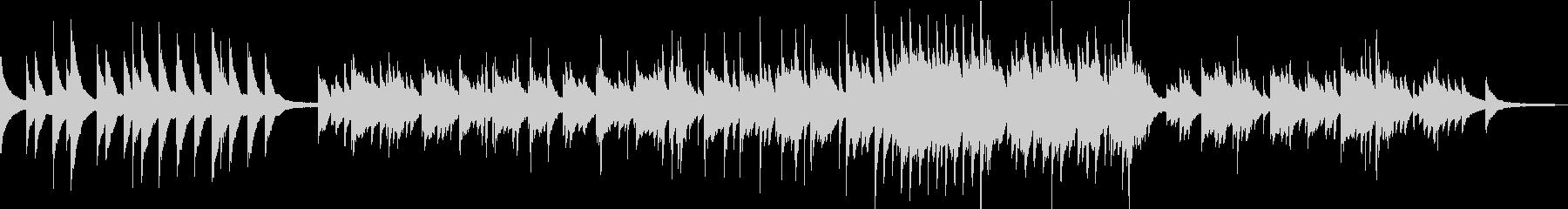 ピアノBGM 切ない映画のエンドロール の未再生の波形