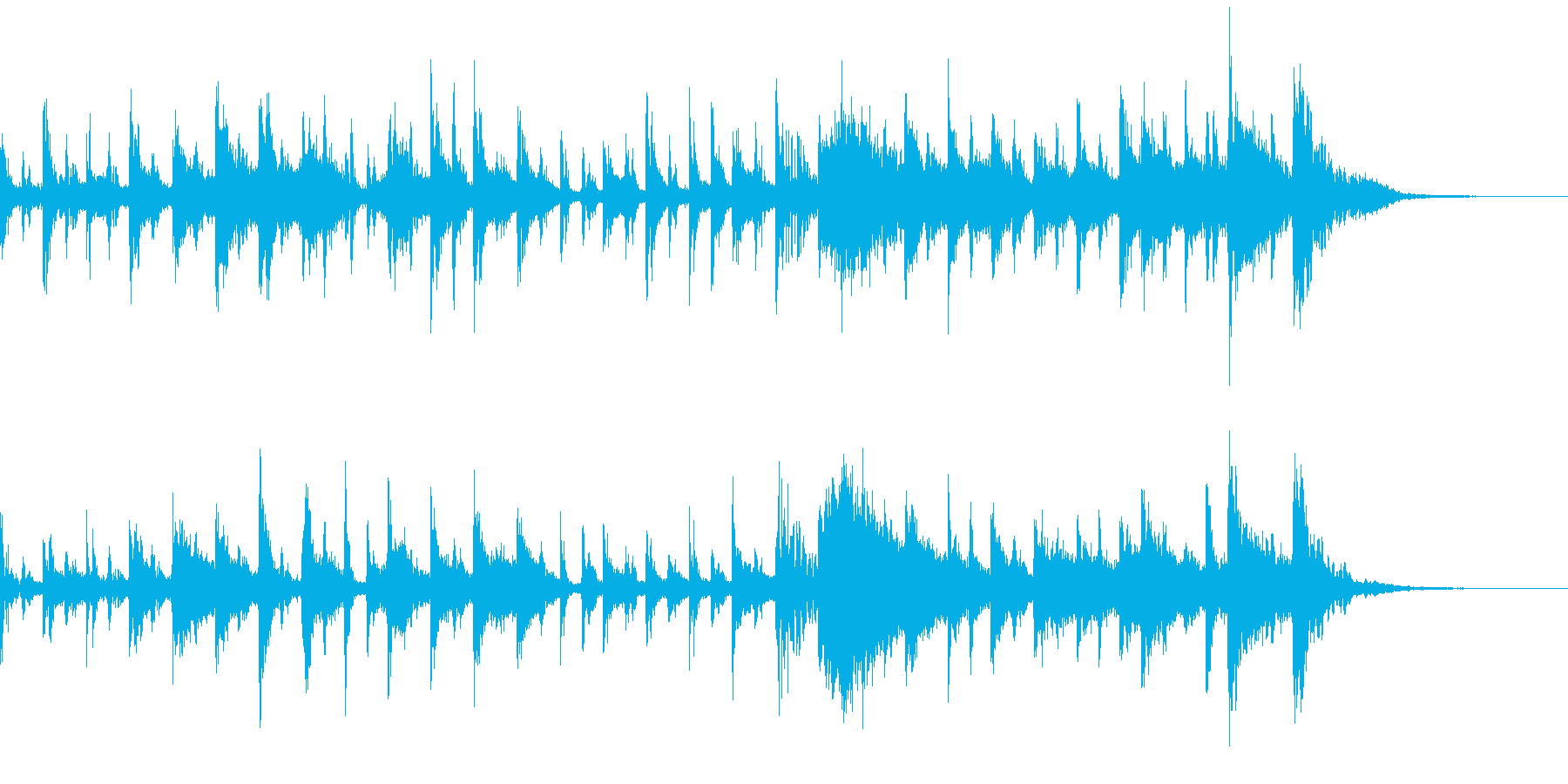 メカノアップビートエレクトロリズムの再生済みの波形