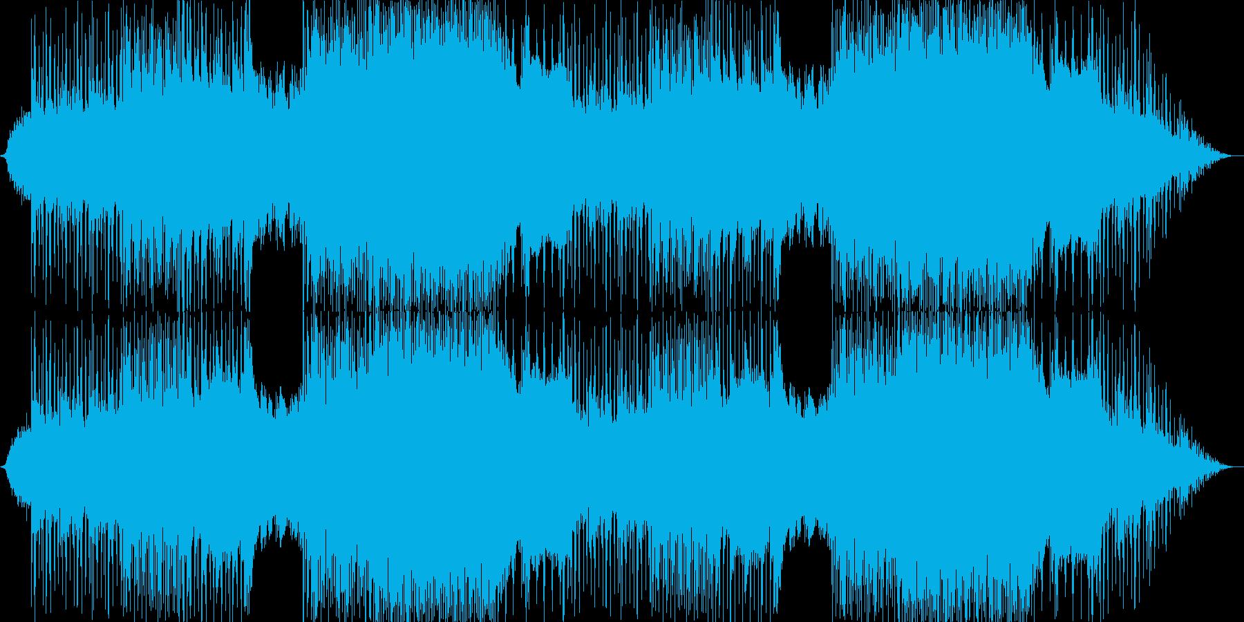 軽快なポップロックの再生済みの波形