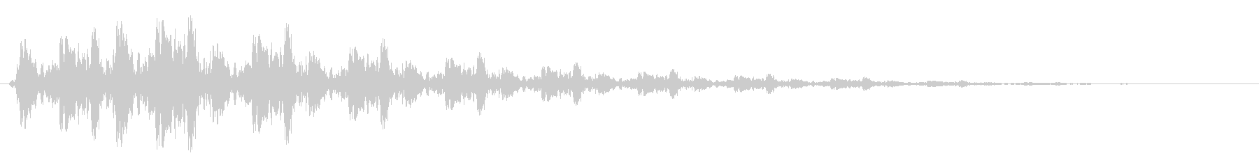 ピヨヨヨヨン(バネがのびるような決定音)の未再生の波形