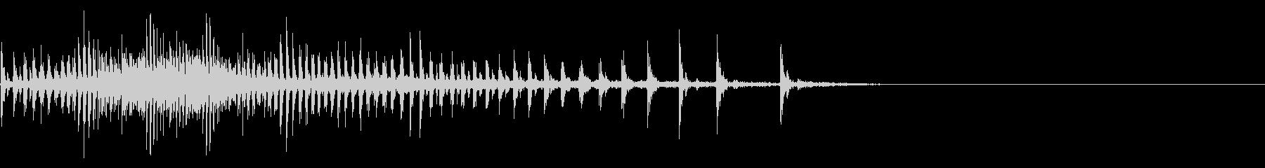 [生録音]魚釣り、リールを巻く12の未再生の波形