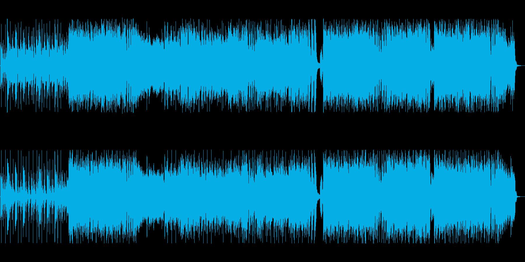 疾走感あるクールなロックポップの再生済みの波形