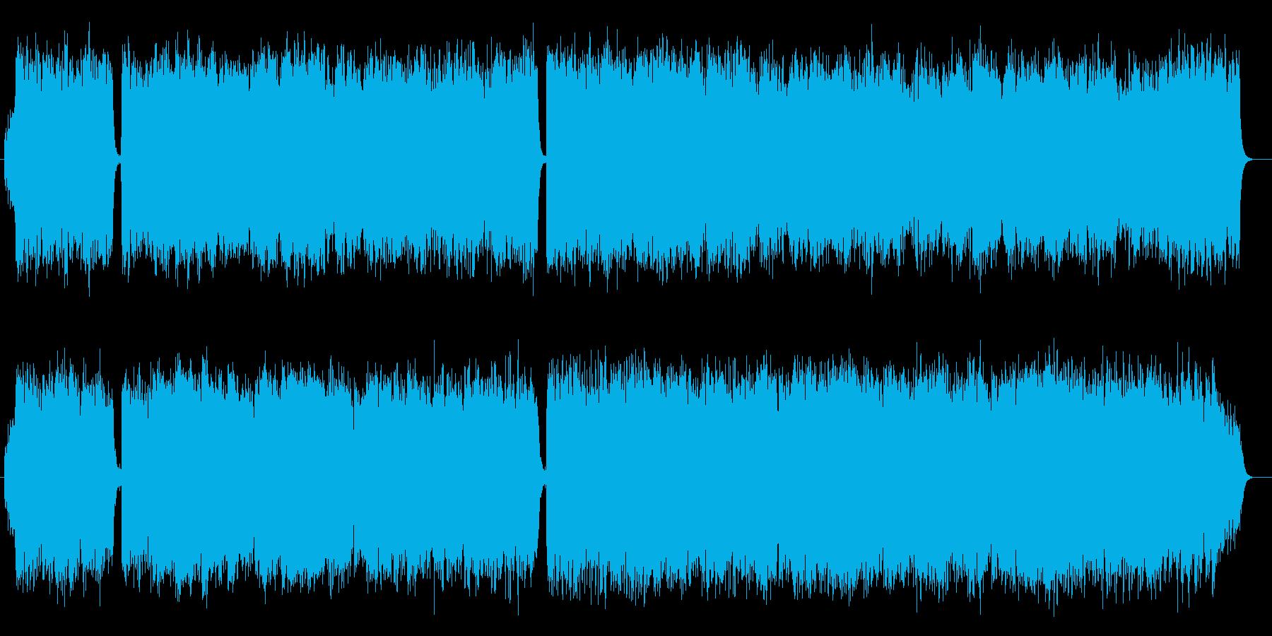 明るいカントリーワルツの再生済みの波形