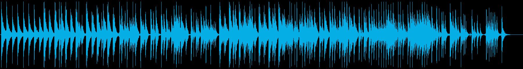 ウクレレのような音で哀愁を感じさせる曲の再生済みの波形