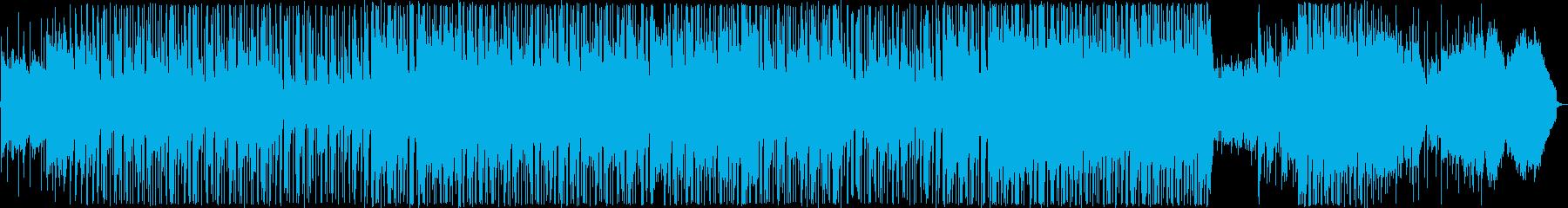 ニューエイジ風の悲しい雰囲気のバラードの再生済みの波形
