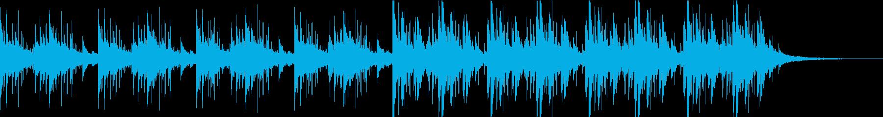 幻想的なピアノとシンセ 深海のイメージ曲の再生済みの波形