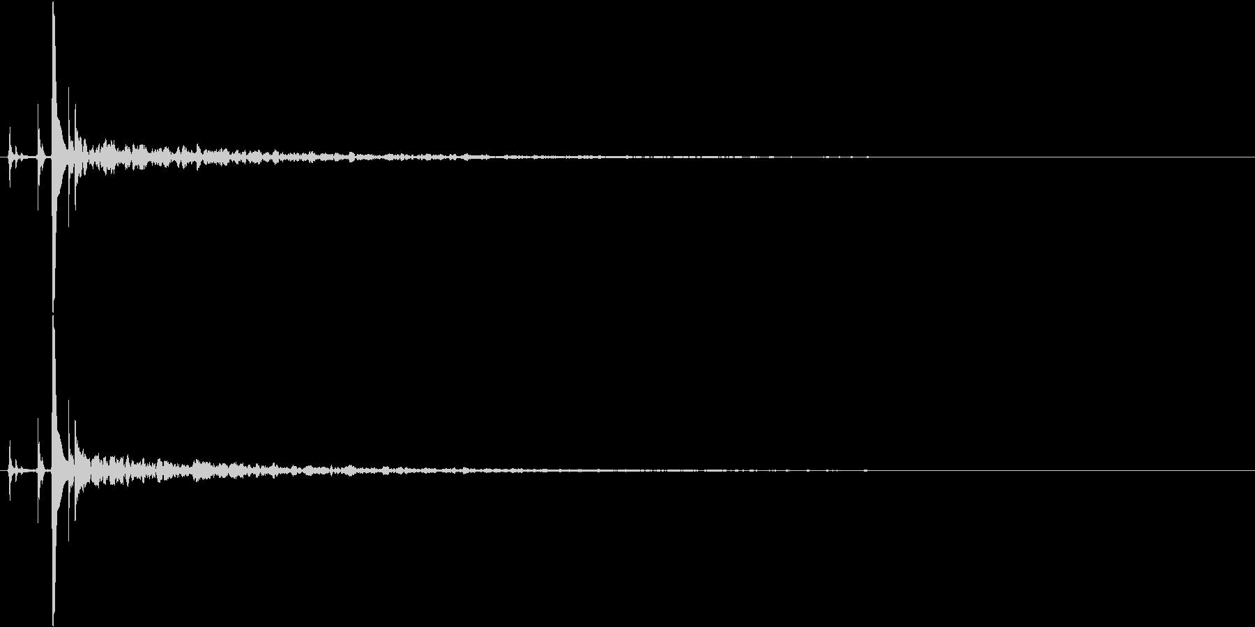 ポチャーン(水滴・雫)の未再生の波形