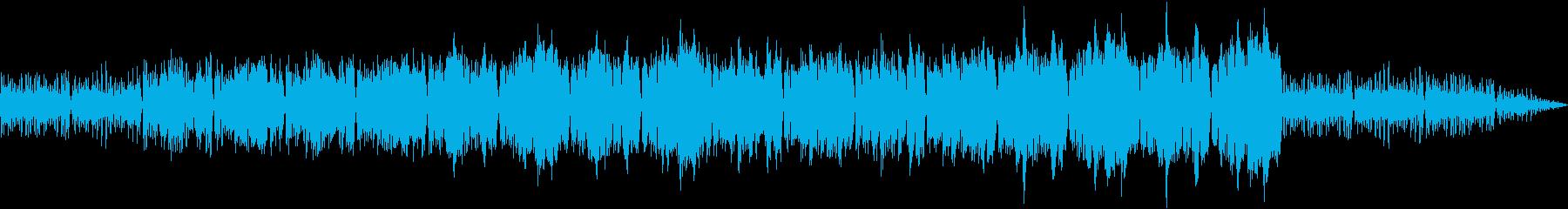 明るく晴れ晴れとしたアコースティック曲の再生済みの波形