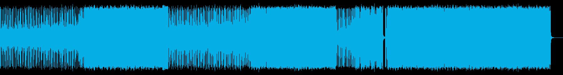 リードシンセによるロックンロールの再生済みの波形