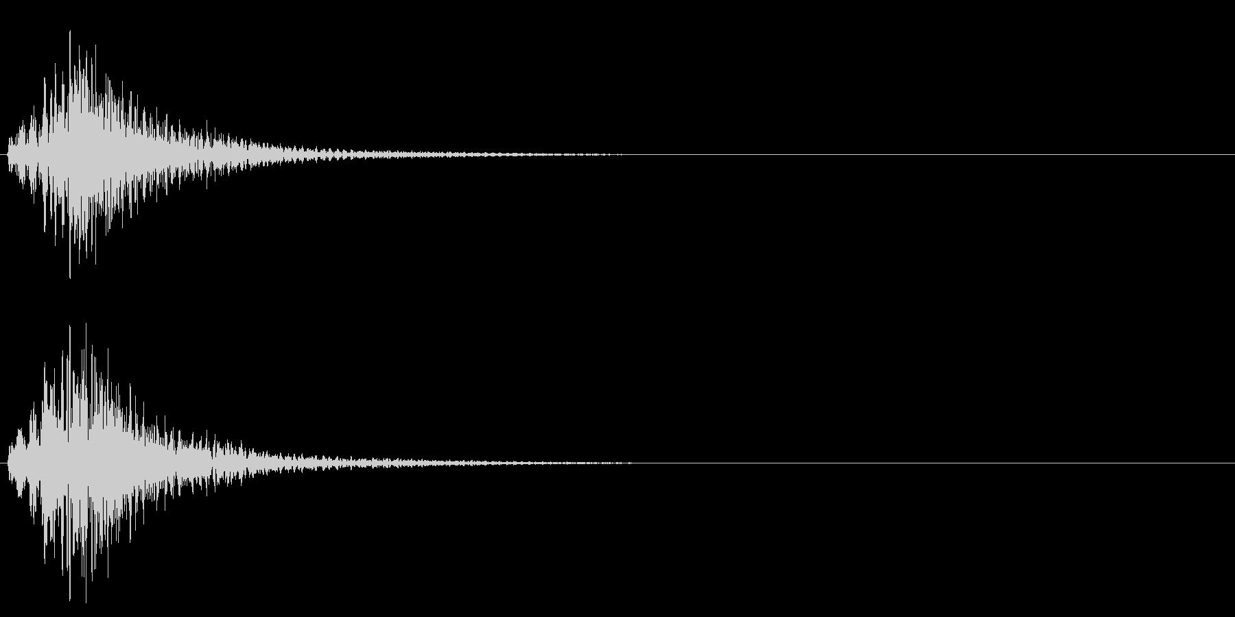 ハープのグリッサンド 低音域バージョンの未再生の波形