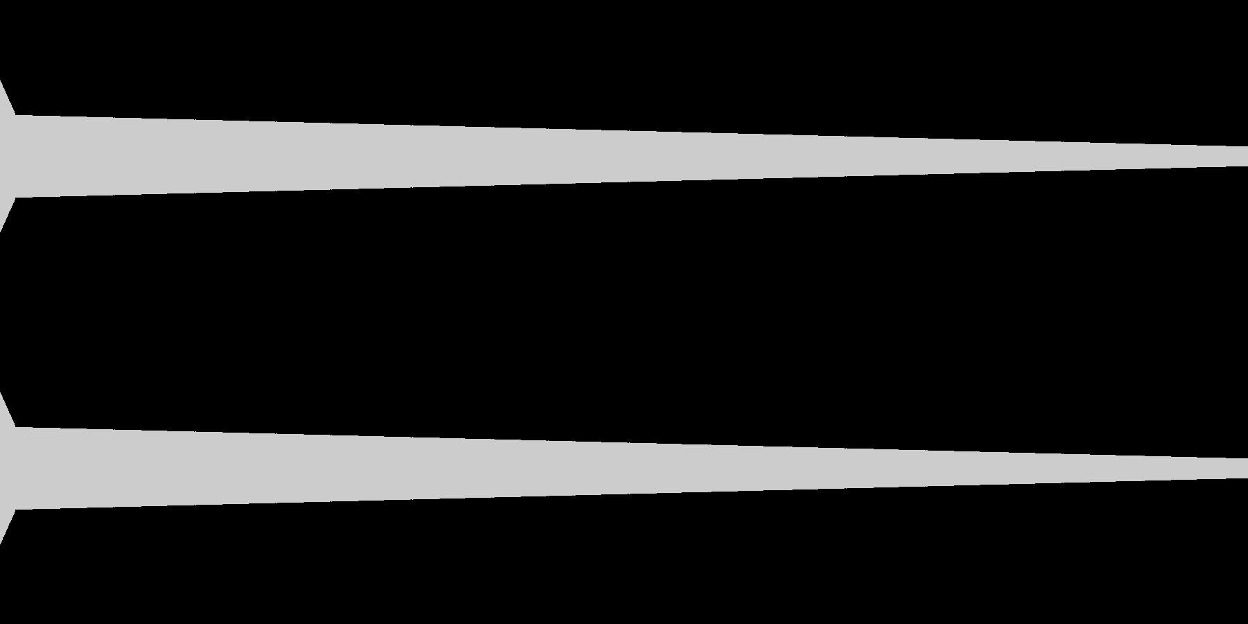 ピッ(決定/ビープ音/ピコピコ/クリックの未再生の波形