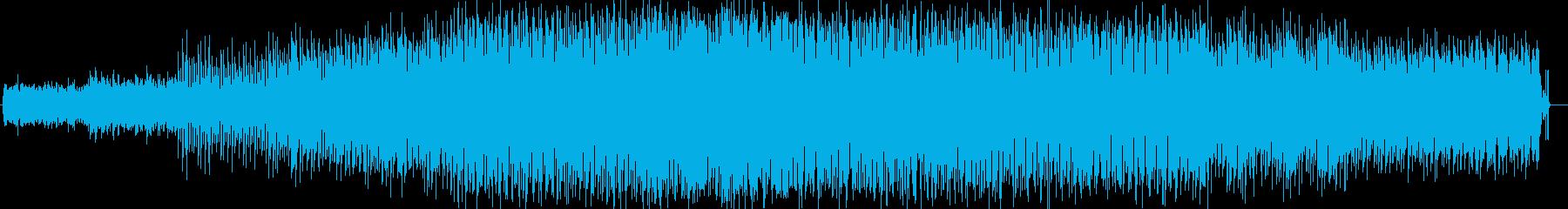 明るいワクワクするシンセのストリングの曲の再生済みの波形