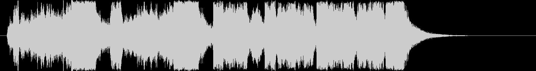 競馬風ファンファーレジングルの未再生の波形